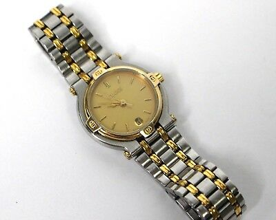 6d8743063f9 GUCCI 9000L DATE Gold Plated Stainless Steel Ladies Watch Quartz ...