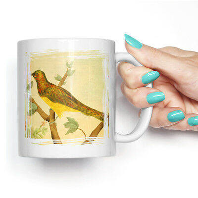 Coffee Mug Tea Cup Ceramic Vintage Charles R Ryley Cupreous Cuckoo Retro Animal