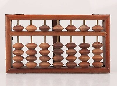 Retro Chinese Wood Abacus Figurative Arithmetic Tools Collect Old Gifts