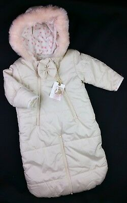 Baby Girls Clothes JESSICA SIMPSON Puffer Jacket Pram Suit 12-18 Months BNWT