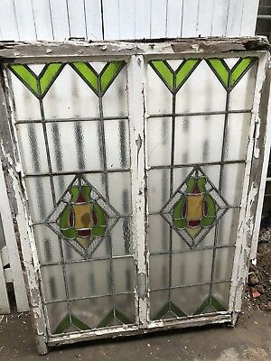 Antique Leadlight Window