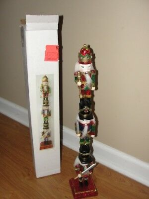 "Kurt S. Adler ""stacking Christmas Nutcracker"" Statue 21 Inches Tall"