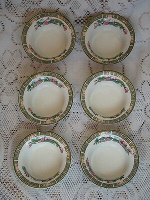 6  Pudding, Fruit Or Desert Bowls By Myott, Son & Co. England