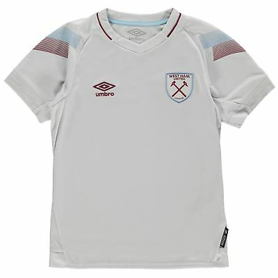 Umbro West Ham United Third Jersey 2018 2019 Juniors Grey Football Soccer Top