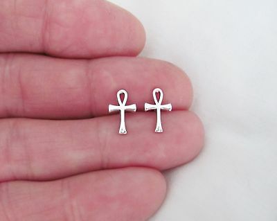 Sterling Silver 12mm Ankh with Hypo-Allergenic Post stud earrings.