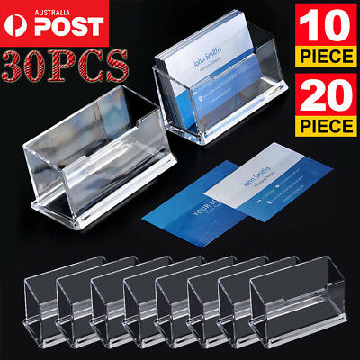 10/20/30PCS Business Card Holder Plastic Display Stand