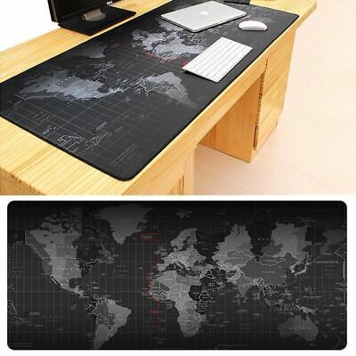 Extra Large Mouse Pad Old World Map Anti-slip Rubber Gaming Mat with Locking Edg