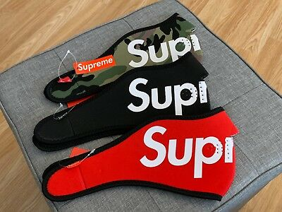 Supreme - Neoprene Logo Face Mask Ski Mouth Cover Fashion Camo Black Red FW14