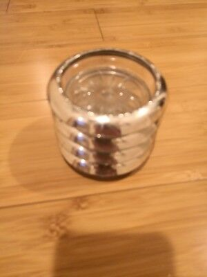 Vintage Sterling Silver Crystal Coasters Set of 4 By Amston 144