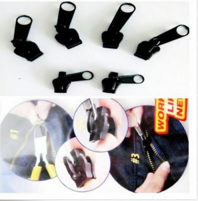 6Pcs Fix a Zipper Zip Slider Rescue Instantané Kit Réparation Remplacement