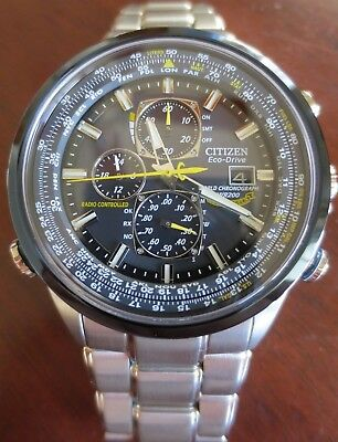 Citizen AT8020-54L Men's Blue Angels Skyhawk Radio Controlled Eco-Drive Watch
