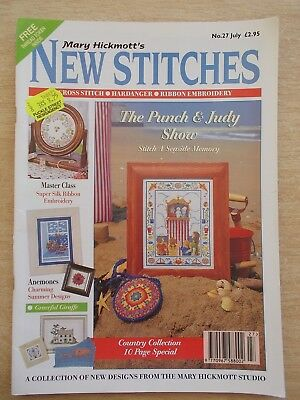 Mary Hickmott's New Stitches #27~Cross Stitch & Embroidery Patterns~1995