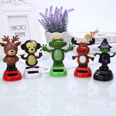 3AA2 Solar Powered Dancing Animal Swinging Animated Bobble Dancer Toy Car Decor