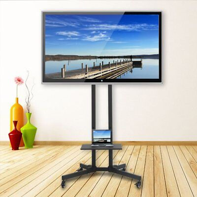 "Mobile TV Cart Floor Stand Mount Home Display Trolley for 32-65"" Plasma/LCD/LED"