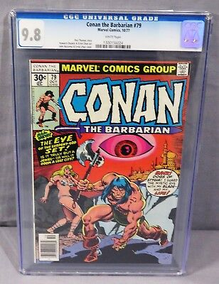 CONAN THE BARBARIAN #79 (White Pages) CGC 9.8 NM/MT Marvel Comics 1977