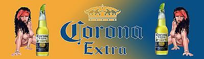 CORONA EXTRA   AND GIRLS  2 MANCAVE BANNER Work Shop Garage Shed Bar Whisky