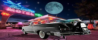 CHEVY IMPALA COVERTABLE MANCAVE BANNER Work Shop Garage Shed Bar Whisky