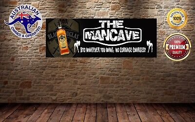 BLACK DOUGLAS MANCAVE BANNER Work Shop Garage Shed Bar Whisky
