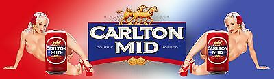 CARLTON MID   AND GIRLS  1 Banner -  Man Cave Work Shop Garage Shed Bar Whisky