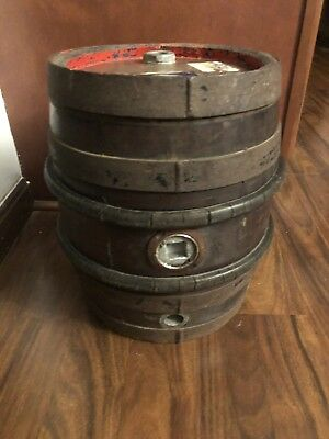 "RARE!! Vintage Antique Wooden Beer Barrel Keg 15"" Tall"