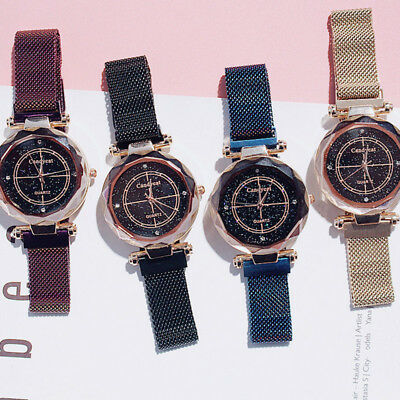 Women Watches Starry Sky Simple Magnet Wrist Watch Fashion Quartz Gifts NEW