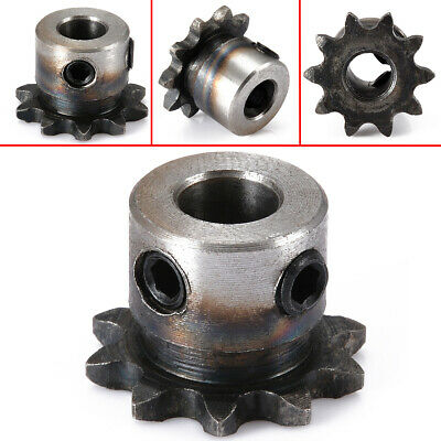 8mm Bore 10 Teeth 10T Metal Pilot Motor Gear Roller Chain Drive Sprocket 15*25mm
