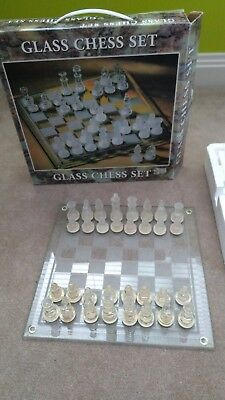 Glass Chess Set  Pickup 2065 NSW