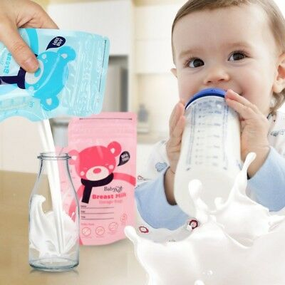 Breastfeeding Baby Breast Milk Storage Bags Pre-Sterilised Seal Pouch 1Pc/30Pcs
