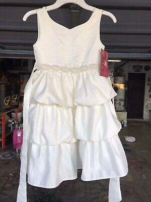 b7b98f03 Princess Faith Tiered Dress Toddler Girl Ivory 6X Special Occasion Holiday  NWT