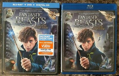 Fantastic Beasts & Where to Find Them Blu-ray + DVD 2017 2-Disc Set w Slipcover