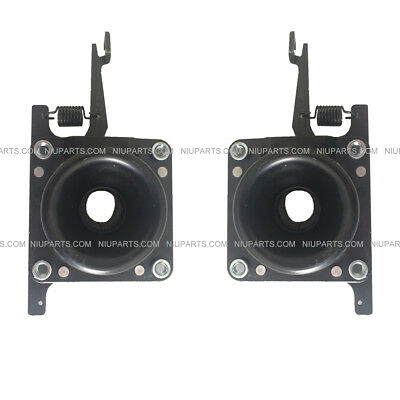 Truck Hood Latch Black Metal Left & Right side (Fit: Volvo VNL 630 670 730 780 )
