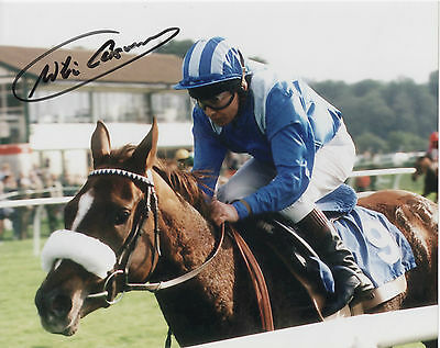 WILLIE CARSON Signed 10x8 Photo HORSE RACING Legend COA
