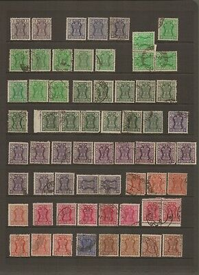 INDIA - Selection of old Used POSTAGE SERVICE Stamps