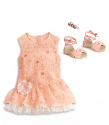 "NIB American Girl 18"" Doll Shimmer & Lace Party Dress  ***NO DOLL Retired"