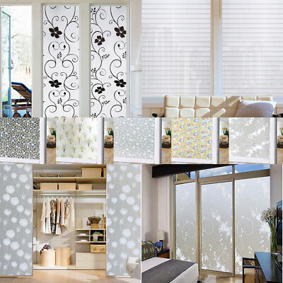 Bedroom Bathroom Home Glass Window Door Privacy Film Sticker PVC Frosted 2M Roll