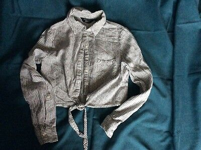 New Look Generation 915 cropped tied striped shirt age 9 years