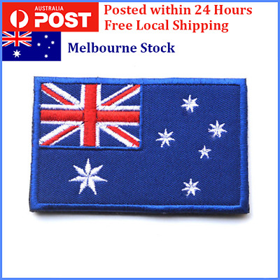 Australian Flag Patch, Iron On, Sew On, Stitch On, Glue On Aussie Flag 8 x 5cm