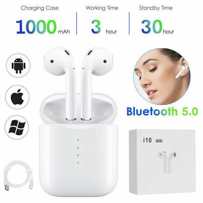 i10 X8 Mini i7S TWS Wireless Bluetooth Stereo Headphone In-Ear Music Earphone UK