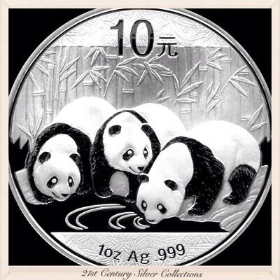 Frosty Gem 2013 1 Oz Chinese Silver Panda Coin .999 Pure 10 yuan