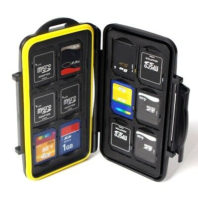 Memory Card Case Hard Protector Box Storage Holder Fits 12 SD