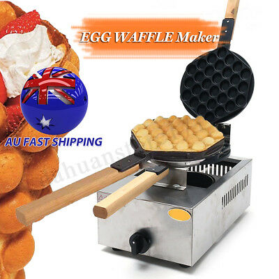 1100W Bubble Waffle Maker Puff QQ Egg Baker Kitchen Machine Pan Commercial