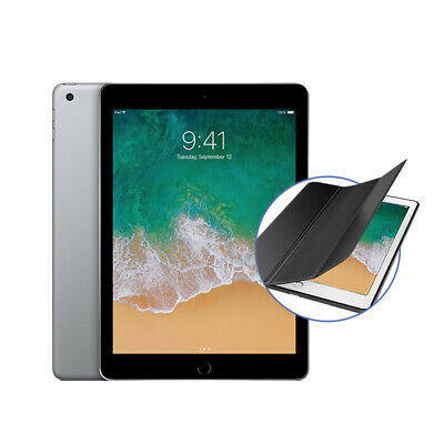 "Apple ipad 9.7"" (2018) 32GB Wifi - Gris Espacial con Premium Funda Plegable"