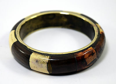 Indian vintage jewelry ivr Fit brass base and wood bangle nice design. i8-47 AU