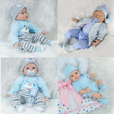Uk Lifelike Newborn Baby Boy Realistic Reborn Doll Artist Kids Christmas Gifts