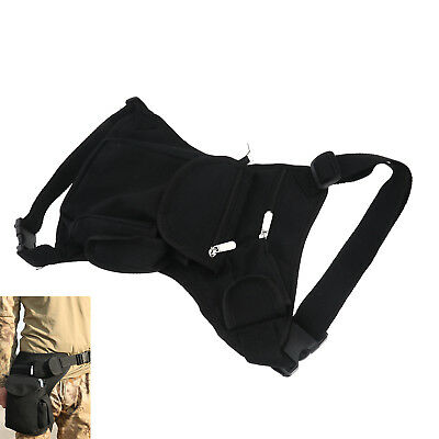 Black Practical Motorcycle Travel Mens Riding Cycling Hip Fanny Pack Outdoor