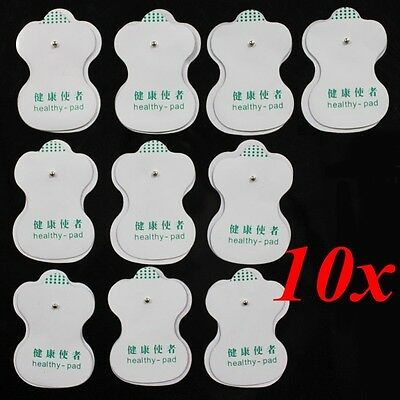 Electrode Pads For Tens Acupuncture Digital Therapy Machine Massager 10PCS White