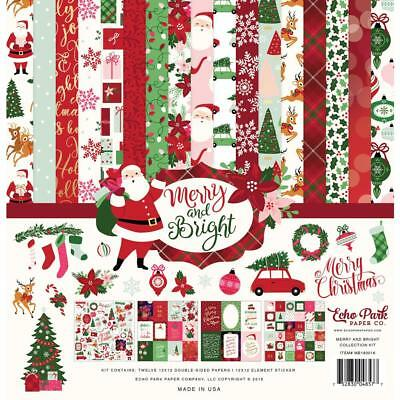 Echo Park Collection Kit - MERRY & BRIGHT - papers and stickers