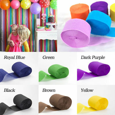 HOT Crepe Paper Rolls 81ft - Streamer Decoration Bunting 10 metres -18 Colour