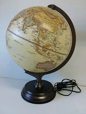 Vintage World Globe *vgc* Map Lamp Light