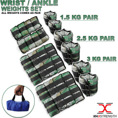 Wrist Weights Ankle Running Exercise Home Gym Strength Training Workout MMA Fit